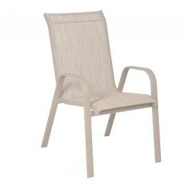 Cadeira Empilhável Summer - Tela Cinza Mesclado - Alumínio Cinza Urbano