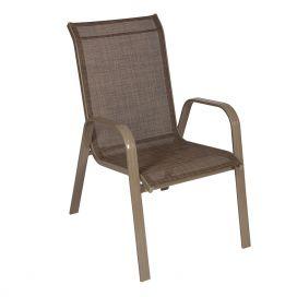 Cadeira Empilhável Summer - Tela Champagne - Alumínio Champagne