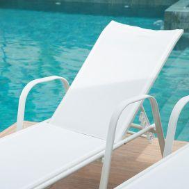 Espreguiçadeira Cancun - Tela Branca