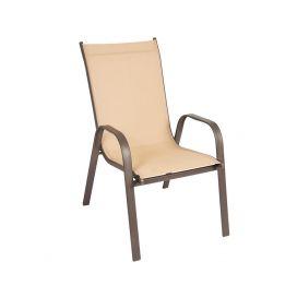 Cadeira Empilhável Cancun - Tela Bege