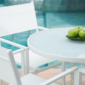 Cadeira Empilhável Square - Tela Branca