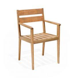 Cadeira Verona com Braços - Polisten Jatobá