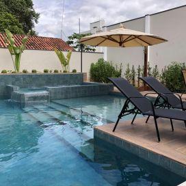 Espreguiçadeira Cancun - Tela Preta